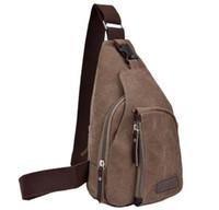 Wholesale Man Military Messenger Sport Casual Outdoor Travel Hiking Chest Bag Canva Crossbody Back Pack Men s Shoulder Bag