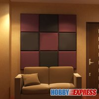 acoustic absorption - New Bundle Flat Bevel Tile Acoustic Panel Sound Absorption Soundproof Foam x50x5cm x19 x1 in Colors KK1039