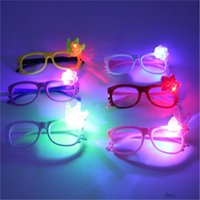 Wholesale Cartoon flash light emitting optical frames eye glasses frames KT Cat children s toys luminous decorative pictures