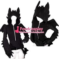 Wholesale How To Train Your Dragon Nightfury Toothless Dragon Hoodie Movie Cosplay Costume Tailor made