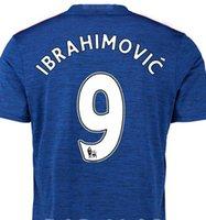 xxxxl size jersey - 9 Zlatan Ibrahimovic man United home jersey football away blue shirt size s m l xl xxl xxxl xxxxl