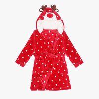 Wholesale Cartoon Boy Hood - Kids Christmas Pajamas Flannel Fleece Long Sleeve with Hood Bathrobe Baby Girls Boys Christmas Sleepwear Cartoon Animal Robes Nightgown