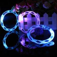 Wholesale LED bracelet light up flashing Glowing bracelet Blinking Crystal bracelet Party Disco Christmas Gift statement