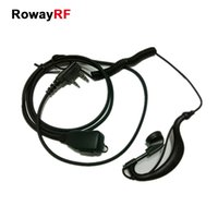 Wholesale Comfortable Earhook Earpiece for Kenwood Police Military Public Push Button Remote Snugly Microphone Walkie Talkie Headset KH