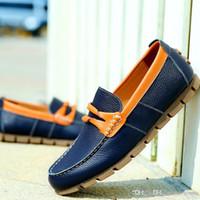 Bon Marché Air en cuir libre-Gratuit Z.suo Expédition Men Brand Flats en cuir véritable, Homme Non-feuillet original vachette Mocassins, en plein air Chaussures de marche, Size39-44