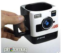 photo mug - British Mustard Photo Mug Polaroid camera lens mug ceramic cup