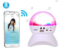 Wholesale RGB LED Crystal Magic Ball Stage Effect Light DJ Club Disco Party Lighting bluetooth speaker With USB TF FM radio Remote