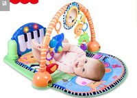 Wholesale Fisher baby fitness On the piano multi function game blanket crawling mat baby toys