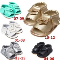 Wholesale New Arrivals Baby Toddler Children s Girl s Sandals First Walker Shoes Fringed Open Toe PU Leather KA476