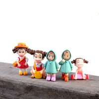 Wholesale Cute cartoon girls figurines fairy garden miniatures gnomes moss terrariums resin craft for home decor diy dollhouse