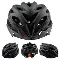 Wholesale New Matte Black Bicycle Helmets Men Women Safety Helmet Back Light Mountain Road Bike Integrally Molded Cycling Helmets K1040