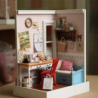 Wholesale New DIY wooden doll house Miniature wooden dollhouse for kids with styles for Halloween Christmas girls gifts