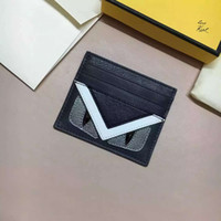 Wholesale Fashion Brand Name Card holder Luxury Brand Monster mini card holder sheep skin Genuine Leather desiger Mini Credit card holder with eyes