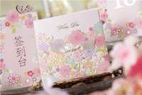 Wholesale New Personalized Design Pink The Bride and Groom Dress Style Invitation Card Wedding Invitations Envelopes Sealed Card Top Quality