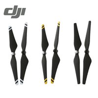 Wholesale DJI Phantom Propeller Carbon Fiber Reinforced Self tightening Propellers Composite Hub Black with Yellow White Stripes