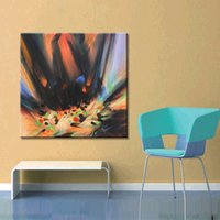Wholesale high quality pure hand painted oil painting abstract painting decoration modern hotel club home sitting room office with colo