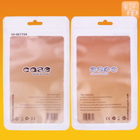 Wholesale 189 mm White Clear Self Seal Zipper Plastic Retail Packaging Bag Zip Lock Bag Retail Hang Hole For iPhone S S Free