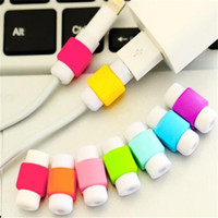 Wholesale Silicone cable Saver USB charger charging cable data line Earphone Wire Cord Protector universal For iPhone Plus ipad ipod Samsung DHL free