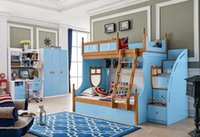 Wholesale Youth kids teenage Children Soild Oak Wood MDF Bunk Bed Bedroom Furniture