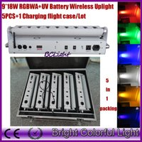Wholesale lights fly case RGBWAUV IN Wedding decor led up lights wireless dmx led wall washer led stage lights wireless