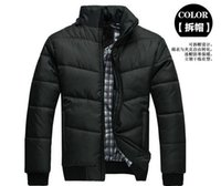 Wholesale Fashion Mens Outerwear coat Jackets down parkas Zippered Outerwear