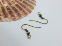 Wholesale Price Metal Ear Wire Hooks With Bead Coil Jewellery Finding Earring Finding French Ear Wire Hook