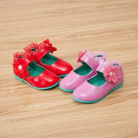 Wholesale 2016 new Hot sell Spring Summer Autumn fashion girl children Leather Shoes lovely princess pearl shoes