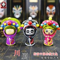 Wholesale Characteristics of sichuan opera face baby doll creative figures of tourist souvenirs of change hang furnishing articles chengdu in sichuan