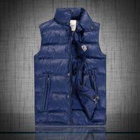 Wholesale 2016 New Arrival Zipper Snap Placket Winter Man Casual Vest Plus Size Brand Pocket Design Mandarin Collar Men Warm Waistcoat