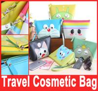 Wholesale MAKE UP BAG Travel COSMETIC BAG Cases PU Carton Women Lady Girl Zipper Multifunction Waterproof Storage Bag Purse Hot