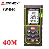 angle finder tools - SNDWAY SW E40 RZ40 ft m laser Distance Meter Digital Laser Range Finder Tape Area volume Angle Tester tool Laser Rangefinder