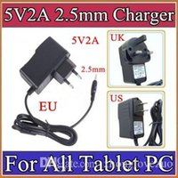 Wholesale 5V A DC mm Plug Converter Wall Charger Power Supply Adapter for A13 A23 A33 A31S ALL Tablet PC EU US UK plug Retail A PD
