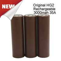 Wholesale 18650 Battery HG2 High Drain A V mah A Rechargeable Battery HG2 HE4 HE2 VTC4 VTC5 Fedex Free