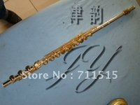 Wholesale Musical Instruments Flute Holes Open Plus the E Key Silver Plated Gold Metal Flute Transverse Flute Vertical Bamboo Flute