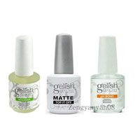 art matte - Top quality Harmony Gelish Polish Soak off MATTE Top it off and pH bond Nourish LED UV Gel nail polish Nail art lacquer gelishpolish
