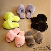 Wholesale Hot Sale Child Boy Girl Warm Home Shoe Slipper New High Quality Wool Kid Girls Open Toe Cotton Soft Plush Floor Slippers Shoes