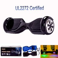 Wholesale Electric LED Scooter UL Hoverboard Smart Balance Scooter Motor Skateboard Safest Drifting Board CE FCC UL Charger