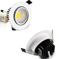 Wholesale Dimmable COB W LED Flush Mount Ceiling Down Lights Bulb V V White Shell for Kitchen Hotel Spot Lighting Decoration CE ROSH Express