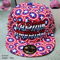 adjustable captain hat - Hottest Sale Snapbacks Hip Hop Caps Captain America Caps Casual Cartoon Peripheral Adjustable Baseball Hats Sunshine Cap Fast Shipping