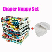 Wholesale Size Adjustable fit for kg kgs Baby Washable Diaper Prints Fabric Prefold Cloth Diapers Reusable Cover Newborn Nappies