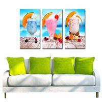bar table frame - LK344 Panel Summer Cold Drink Fruits On The Table Oil Painting Wall Art Mordern Pictures Print On Canvas Paintings Sale For Home Bar Hu