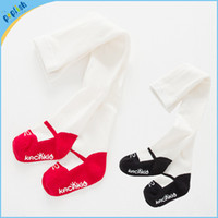 ballet tights - New styles pairs kids tights red black pant ballet shoes design T children baby long socks pantyhose girls