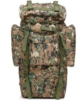 airborne shoulder bags - 65L Large Camouflage Mountaineering Backpacks Airborne Outdoor Travel Bags Multi function Soldier Shoulders Bags Military Rucksacks Army R72