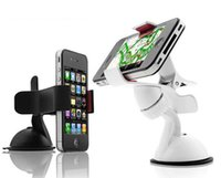 Cheap Universal 360 Degree Car Windshield Mount Phone Holder Bracket Stands for iPhone 5 6 Plus Galaxy Note 2 3 S4 S5 GPS C