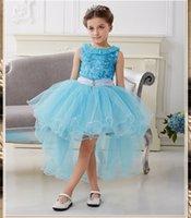 Wholesale 2016 Princess Girl Birthday Dress Fantasia Halloween Fantasy Party Princess Kids Dress Elsa Halloween Carnival Kid Costume Dress