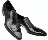 Wholesale fashion classic vintage mens dress shoes oxford black brown italian business leather shoes men flats office wedding