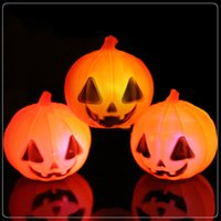 Wholesale 10pcs portable Little halloween night lamps WW Pumpkin rgb skull with batteries inside for halloween party holiday decoration lights