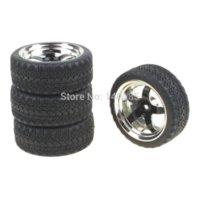 battery pack for electric car - Black Spoke Plastic Plating Wheel Rim amp Soft Tires Tyre for HSP HPI On Road Car Pack of