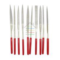Wholesale 10pcs Set Abrasive Diamond Needle Files Set Sharpener x180mm Jeweler Diamond Gringding Carving Craft Tool Metal Glass Stone order lt no tra