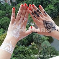 Wholesale Hot Sale Temporary Tattoo Sexy Lace White Tattoo Paste White Lace Tattoo Stickers Temporary Tattoos Size cm